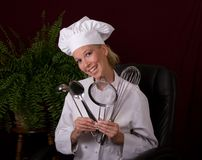 szef kuchni się uśmiecha Zdjęcie Stock