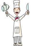 szef kuchni smakosz ilustracja wektor