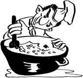 szef kuchni szalony ilustracji