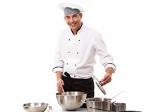 szef kuchni szczęśliwy Fotografia Stock