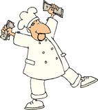 szef kuchni taniec royalty ilustracja