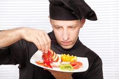 szef kuchni target4590_0_ owoc wyśmienicie talerza obraz royalty free