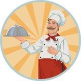 Szef kuchni w retro stylu royalty ilustracja
