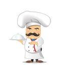 Szef kuchni wektorowa ilustracja dla animaci, gry, różne pozy, kuchnia Obrazy Royalty Free
