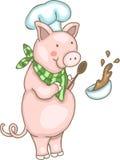 szef kuchni świnia Zdjęcie Royalty Free