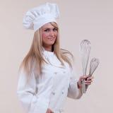 szef kuchni wisks Zdjęcie Royalty Free