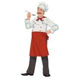 Szef kuchni z łyżką Obrazy Royalty Free