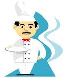 Szef kuchni z tacą Obrazy Stock
