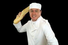 szef kuchni zagniewany zdjęcia stock