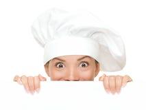 szef kuchni znak Obrazy Stock