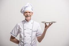szef odosobnionego kucharza biel Obraz Royalty Free