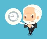 Szef ogląda zegarek Obraz Royalty Free