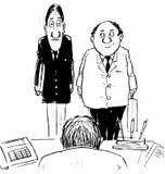 szef rozmowa royalty ilustracja