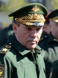 Szef sztab generalny Rosyjski siły zbrojne â€' pierwszy delegata minister obrony, wojsko generał Valery Gerasimov Zdjęcia Stock