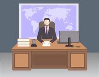 Szef w biurze royalty ilustracja