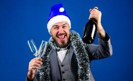 Szefa świecidełko gotowy świętuje nowego roku Korporacyjni partyjni pomysłów pracownicy kochają Korporacyjny przyjęcie gwiazdkowe obraz royalty free