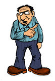 szefa kreskówki rysunku ojciec royalty ilustracja