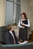 szefa krzesła obsiadanie Zdjęcia Stock