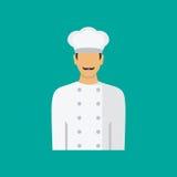 Szefa kuchni avatar profilu kucbarska ikona Płaska wektorowa ilustracja Zdjęcie Stock