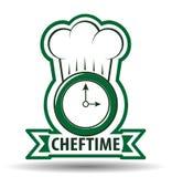 Szefa kuchni czasu Cook wektoru ilustracja Obrazy Royalty Free