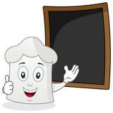 Szefa kuchni kapelusz & Blackboard przepisu lub menu Fotografia Stock