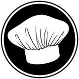 Szefa kuchni kapeluszu symbol Fotografia Stock