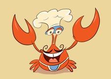 Szefa kuchni kraba powitanie ty Fotografia Royalty Free