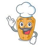 Szefa kuchni Madeleine tortowy francuz odizolowywający na maskotce ilustracji
