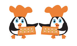 Szefa kuchni pingwin Obrazy Royalty Free
