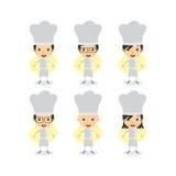 Szefa kuchni postać z kreskówki Obrazy Stock