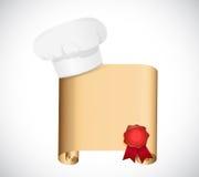Szefa kuchni przepisu ilustracyjny projekt Obraz Stock