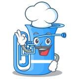 Szefa kuchni tuba odizolowywający z charakterem w ilustracji