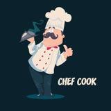 Szefa kuchni wektoru postać z kreskówki Obrazy Stock