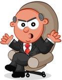 Szefa mężczyzna Gniewny Zdjęcie Stock