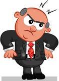 Szefa mężczyzna Gniewny Zdjęcie Royalty Free