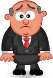 Szefa mężczyzna Nieszczęśliwy Obrazy Royalty Free