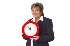 szefa zegarowego mienia zegarowy senior Obraz Stock