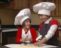 szefowie kuchni bliźniacze obraz stock