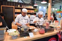 Szefowie kuchni w THAIFEX - świat karmowy AZJA 2017 Zdjęcie Royalty Free