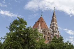 Szeged Cathedral in hungary Stock Photography
