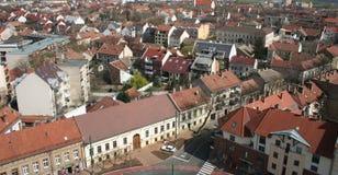 Szeged (city of sunshine). Cityscape with old buildings - Szeged (city of sunshine), Hungary stock image