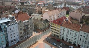Szeged (city of sunshine). Cityscape with old buildings - Szeged (city of sunshine), Hungary royalty free stock images
