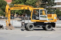 Hyundai excavator Royalty Free Stock Image