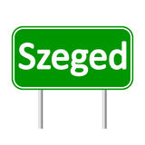 Szeged road sign. Royalty Free Stock Photography