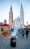 Szeged, Ungarn Advent Christmas Market Lizenzfreies Stockfoto