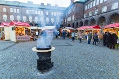 Szeged Ungarn im Dezember 2016 Advent Christmas Market Lizenzfreie Stockfotos