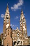 Szegedi Dom (Church of Szeged). The famous church in Szeged city royalty free stock photos