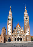 Szegedi Dom (Church of Szeged). The church in centre of Szeged, in South Hungary royalty free stock photography