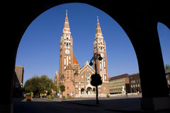 Szegedi Dom (Church of Szeged). The church in centre of Szeged, in South Hungary royalty free stock images