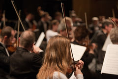 The   Szegedi Symphonic Orchestra performs Royalty Free Stock Photos